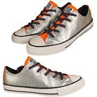 New Kids Girls Silver All Star Chuck Taylor Converse Low Trainers Shoes Sizes Uk