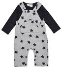Boys Baby Bumble Bear Star Print Dungarees & Long Sleeve Top Set 3 to 18 Months