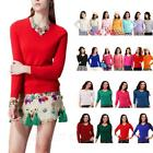 Unisex Shirts Casual V Neck Winter Wool Jumper Womens Cashmere Sweater Size