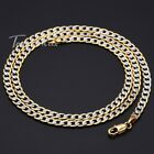 4mm Hammered Curb Link Unisex Mens Chain Womens Silver Rose Gold Filled Necklace