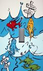 Light Switch Plate & Outlet Covers SEUSS ONE TWO RED BLUE FISH ~ Blue Waves