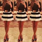 Womens Long Sleeve Sexy Party Bodycon Cocktail Short Evening Mini Skater Dress