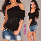 New Sexy One Off Shoulder Top Size 6 8 10 Hot Clubbing Party Casual Shirt XS S M