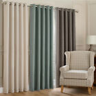 MONTANA EYELET CURTAINS - RING TOP FULLY LINED NATURAL REEF ZINC COLOURS