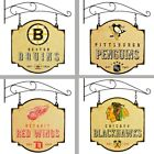 Choose Your NHL Team Hanging Two-Sided Metal Vintage Bar & Tavern Sign w/ Mount
