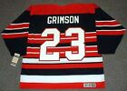 STU GRIMSON Chicago Blackhawks 1992 CCM Vintage Throwback NHL Hockey Jersey