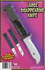 Retractable Disappearing Knife Large Fake Knife Stage Knife Collapsable 54636