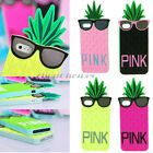 FOR APPLE iPhone 6 Plus 3D FRUIT PINEAPPLE GLASSES CASE SOFT SILICONE COVER