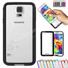 Clear Hard Back Silicone TPU Gel Bumper Cover Case For Samsung Galaxy S5