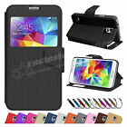 New Flip Wallet Leather Case Cover Stand For SAMSUNG Galaxy S5 Screen Protector