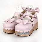 #9829P Sweet Gothic Punk KERA LOLITA shoes DOLLY Punk platform shoes 7cm heel