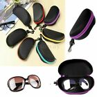 Portable Zipper Carabiner Eye Glasses Sunglasses Hard Case Protector Box Holder
