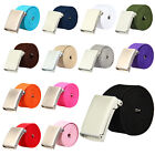 HQ Various Colours Choose Mens Plain Webbing Canvas Belt Will Fit 32 To 52 inch