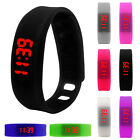 Womens Mens Rubber LED Watch Date Sports Bracelet Digital Fashion Wrist Watch