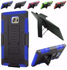 For Samsung Galaxy Note 5 Advanced Hybrid Kickstand Holster Cover Case