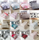 New Duvet Quilt Cover & Pillowcases Reversible Bedding Set Double King