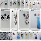Cartoon Transparent Protector Plastic Hard Case Cover For Apple iPhone Series