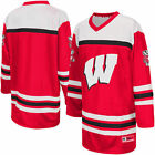 Colosseum Wisconsin Badgers Youth Red Hockey Jersey