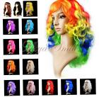 Halloween Cosplay Women Girls Long Wave Hair Wig Synthetic Anime Curly Full Wigs