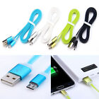 Candy Color Flat Noodles Micro USB Data Sync Charge Cable For Samsung HTC LG Hot