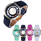 4 Colors Fashion Classic Hollow Womens Analog Quartz Leather Wrist Watch Lady