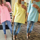 Hot Fashion Womens Loose Pullover T Shirt Long Sleeve Cotton Top Shirt Blouse