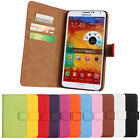 Genuine Real Leather Wallet Card Holder Stand Flip Case Cover Lot Samsung Phones