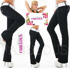 Women's Bootleg Jeans Pants Slimming Boot Cut Size 10 12 14 2 4 6 8 XS S M L XL