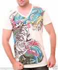 Irezumi T-Shirt Sz M L XL Japanese Tattoo Yakuza Tora Tiger Dragon Ryu bmx W7
