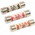 Assorted Cartridge Fuses Sets + 3/5/13 AMP + Domestic Fuse Household Mains Plug