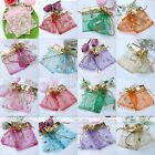Golden Christmas Tree House Wedding Party Favour Organza Gift Bag Jewelery Pouch