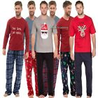 Mens Pyjamas Christmas Gfit Winter Warm Fleece Xmas Pj Set Nightwear Long Sleeve