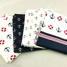 Navy Style Series 100% Cotton Fabric 160cm Wide Per Meter