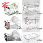 Stainless Steel Dish Drainer Cutlery Cup Rack Plate Drain Stand Holder Drip Tray