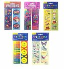 STICKER STRIPS {Amscan} Range of Designs - 8 Strips Per Pack