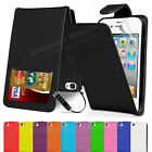 Wallet Flip Leather Case Cover For Apple iPhone 4 4S Free Screen Protector