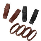 18 20 22 24mm Black or Brown smooth Leather Watch Band strap Holder Locker Loops