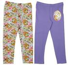 Girls Official Disney Frozen Anna Elsa Olaf Stretch Cotton Leggings 4 - 10 Years