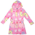 Girls Disney Frozen Elsa Heart Pocket Hooded Dressing Gown Pink 4 to 10 Years