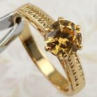 Size 5.5 6.5 7.5 8.5 9.5 Orange Citrine Gems Jewelry Rose Gold Filled Ring R2214