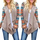 Women's Irregular Sweater Cardigan Long Sleeve Casual Knit Coat Outwear Clothes