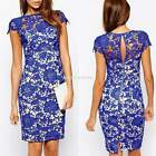 New Women Sexy Floral Lace Evening Party Cocktail Mini Club Dress Bodycon EN24H