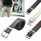 Fashion Mens Casual Dress Metal Pin Faux Leather Belt Waist Strap Waistband