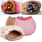 Soft Warm Cat Dog Kitten Cave Pet Bed House Puppy Sleeping Mat Pad Igloo Nest