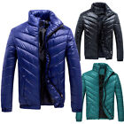 Fashion Men's Casual Winter Warm Jacket Down Parkas Stand Collar Outwear Coat