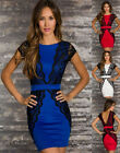 N135S Women Slim Lace sexy lingerie clubwear dress white/Blue/ Red size M,L,XL
