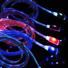 Retractable Smile LED Light Charger Data Cable For iPhone 5/5S/5C/6/6Plus/6S Lot