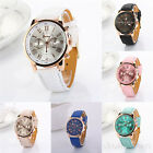 Fashion Luxury Womens Mens Leather Watches Quartz Bracelet Bangle Wrist Watch