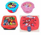 Boys & Girls Character PLASTIC LUNCH TIME FOOD CONTAINERS for School/Picnics