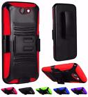 For HTC One A9 Aero Rugged Side Kickstand Holster Cover Case